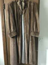 Vintage Designer Real Mink Full Length Trench Fur Coat Kaufman's