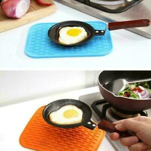 Kitchen Silicone Heat ResistantTable Mat Non-slip PotPan Cushion Holder Pad O3W4