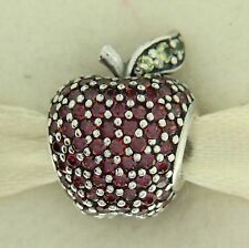 Authentic Pandora 791485CFR Red Pave CZ Apple Sterling Silver Bead Charm