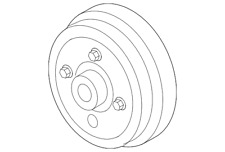 Genuine Ford Pulley 8C3Z-8509-A