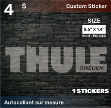 1.4 by 5.6  inch Sticker Decal (THULE) 1x white