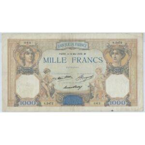 FRANCE 1000 FRANCS CERES ET MERCURE 14 MAI 1936 S.2472 TTB-