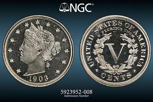 NGC PF-66 1903 Liberty Nickel, Deeply mirrored, nearly Cameo Proof!