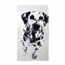 350GSM Printed Pet Animal Dalmatian Dog Velour Beach / Bath Towel 70x140cm