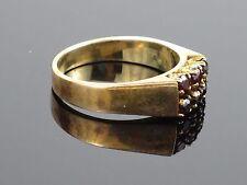 Vintage c 1970 Rubellite 9K Yellow Gold Ring, 3.8g, size 5 1/2