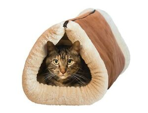 """Kitty Shack Mat for Cat Tunnel Bed - Tan - 35"""" X 22"""" X 3"""" unzipped Large Mat"""