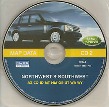 01 02 03 04 LAND ROVER NAVIGATION MAP DISC CD 2 NW SW AZ CO ID MT NM OR UT WA WY
