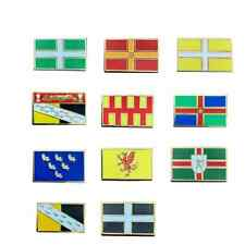 More details for set of 11 england county enamel gold lapel pin badges new design and unique
