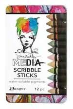 Dina Wakley Media Scribble Sticks 3 12/Pkg  789541065944