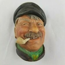 Vintage 1969 Bossons Chalkware Head Pipe Cap Made in England Sailor Captain! 5""