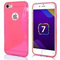 Apple iPhone 7 Plus Handy Tasche Handyhülle Silikon S-Line Case Pink ..