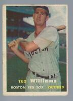 1957 Topps Ted Williams #1 vg-vgex