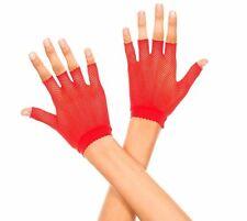 Rouge Résille Danseur Style Mitaines Poignet Gants Sexy Lingerie P401