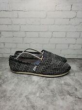 Tom's Alpargata Slip-On for Women, Size 8.5 - Black on Black