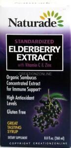 1 Bottle Naturade  Standardized Elderberry Extract 260 ml +Zinc + Vitamin C