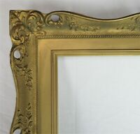 "VINTAGE FITS 16"" X 20"" GOLD GILT COUNTRY PRIMITIVE WOOD FRAME FINE ART VICTORIAN"
