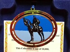 Gregory J. Harber Handcrafted Pure 24k Gold Christmas Ornament Stonewall Jackson