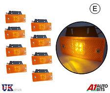 8x 24v LED amber orange side marker lights lamps for trailer truck lorry E-mark