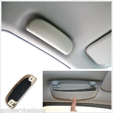 1pcs Beige Car Front Sunglasses Holder Glasses Case New Universal Travel Pack