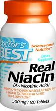 Real Niacin, Extended Release, 500mg, 120 tablets, Doctor's Best