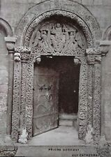 Ely Cathedral UK Postcard Early 1900s Rare Priors Doorway Angels