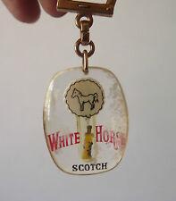 Porte Clé Bourbon mobile bouteille Scotch White Horse Keychain Key ring 1960s