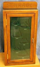 RARE NOS Schrade Knife Knives Locking Dealer Display Case Cabinet Inserts Labels