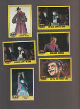 Lot of 6 Batman movie trading cards Topps 1989