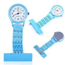Best Brand Vintage Silver Stainless Steel Nurses Pocket Quartz Fob Watch Blue Bw
