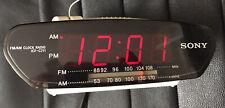 Sony Dream Machine ICF-C211 AM FM Alarm Digital Clock Radio White *Please Read*