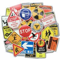 50Pcs Warning Laptop Sticker Bomb Luggage Skateboard Guitar Vinyl Decal Pack Lot