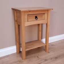 Corona 1 Drawer Console Table Mexican Solid Pine Hallway by Mercers Furniture