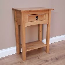 Corona 1 Drawer Console Table Mexican Solid Pine Hallway by Mercers Furniture®