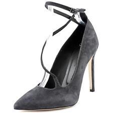 Zapatos de tacón de mujer de color principal gris de ante