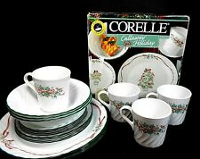 Corelle Callaway Christmas Holiday Ivy Swirl Dish Set 19 Pcs - Made in USA