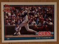 1991 Topps Ryne Sandberg Baseball Card #740 Chicago Cubs