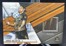 2021 Topps MLS Zarek Valentin Match-Used Relic 2-color Memorabilia - HOU Dynamo