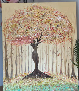 Tree Of Life Original Painting, Autumn Painting, Autumn Trees Original Painting