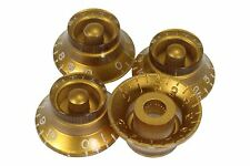 Bell Shaped knobs Gold w/ embossed numbers for Gibson Les Paul 4pk