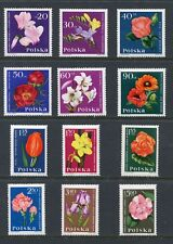Poland Scott 1279-90 1290 Flowers Complete Set of 12 Stamps 1964 NH