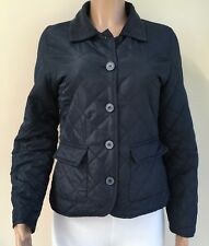 F&F Navy Blue Lightweight Quilted Coat Jacket Size 10