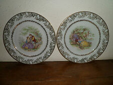 2 Assiettes porcelaine de Limoges - Collection - En parfait état - 5 Photos