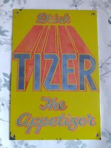 ORIGINAL VINTAGE METAL SHOP ADVERTISING SIGN TIZER THE APPETISER