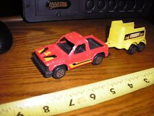 "RARE Vintage 1/43 ? 7 3/8"" Tootsie Toy Chevy S-10 Pickup with horse trailer"