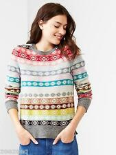 NWT WOMENS GAP HOLIDAY 2014 FAIR ISLE STRIPE WOOL SWEATER XS XSMALL