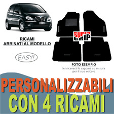 RICAMO TOP PER LANCIA PHEDRA TAPPETINI PER AUTO IN VELLUTO BEIGE e FONDO GOMMA