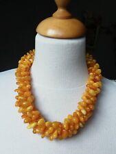 collier ancien de Russie en ambre véritable