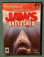 Jaws Unleashed (Sony PlayStation 2 PS2, 2006, Greatest Hits) Complete