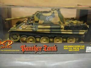 WWII GERMAN PANTHER TANK 1/18 SCALE ULTIMATE SOLDIER XD XTREME DETAIL