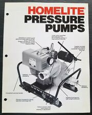 Homelite Pressure Pump Dealer Sales Brochure